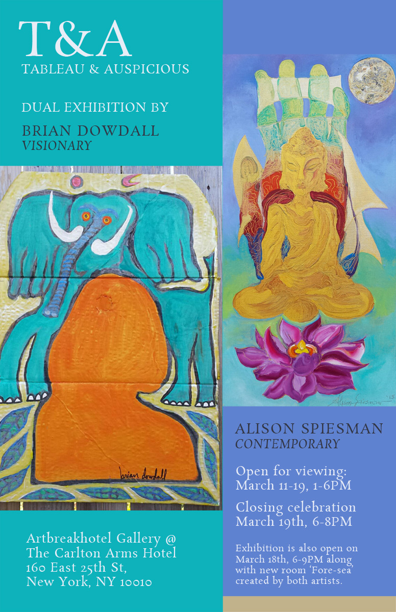 Dual Exhibition 'TABLEAU & AUSPICIOUS' by Brian Dowdall and Alison Spiesman